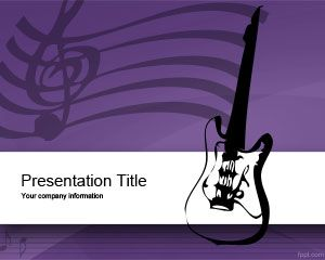 Plantilla PowerPoint de Equipo de Música PPT Template