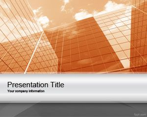 Link toOrange corporate project powerpoint template