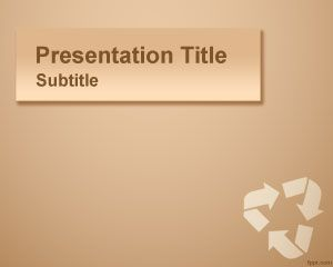 Paperboard Recycling PowerPoint Template PPT Template