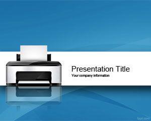Plantilla PowerPoint de Impresora PPT Template