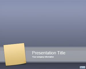 Free sticky note PowerPoint template with post it