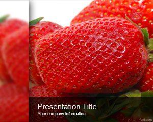 Plantilla PowerPoint de Fresas PPT Template
