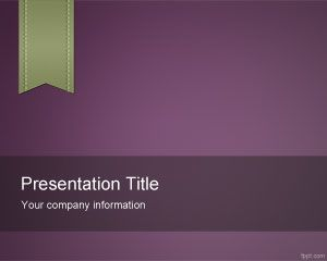 Violet e-Learning PowerPoint Template PPT Template