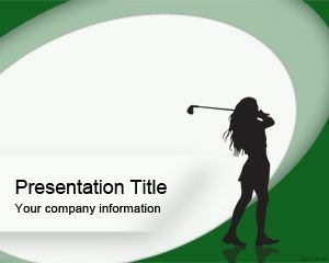 Woman Golf PowerPoint Template