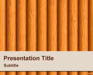 Wood Stems PowerPoint Template