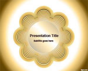 Plantilla PowerPoint con Flor amarilla