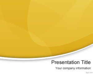 Yellow Modern PowerPoint Template