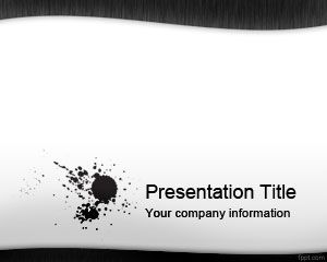 black ink powerpoint template ppt template