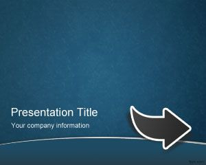 Blue Arrow PowerPoint Template