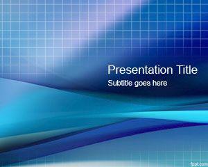 Plantilla PowerPoint con Grilla Azul