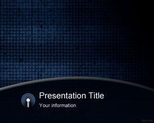 Blue Grunge PowerPoint Template