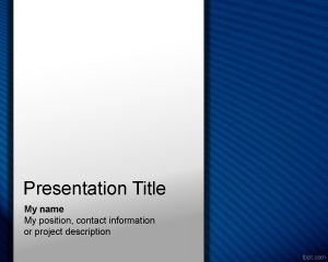 Plantilla PowerPoint Modelo azul PPT Template