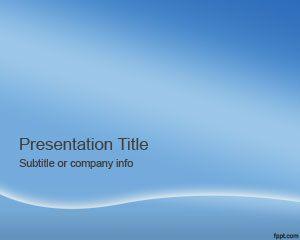 Plantilla PowerPoint de Cielo Azul