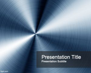 Blue steel powerpoint template