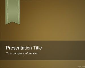 Brown e-Learning PowerPoint Template