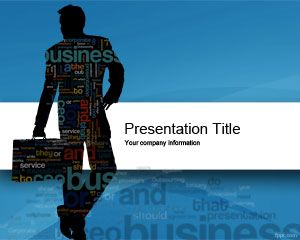 Link toBusiness cloud powerpoint template