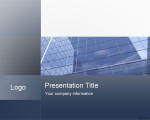 Plantilla PowerPoint de Negocios con Fondo Azul PPT Template