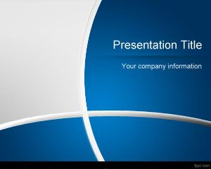 curves – free powerpoint templates, Modern powerpoint