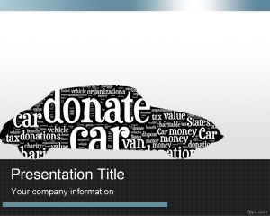 Transportation free powerpoint templates you can download this donate car ppt template with an old car shape in the slide design a word cloud style inside the car shape the car donate template for toneelgroepblik Gallery