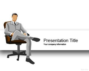 Executive Man  Scholarship PowerPoint Template