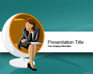 Executive Woman  Scholarship PowerPoint Template