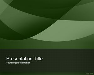 curves – free powerpoint templates, Presentation templates