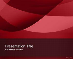 Plantilla PowerPoint Exótica Roja
