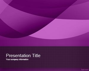 Exotic Violet PowerPoint Template