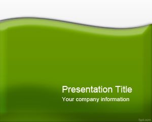 Glossy Green PowerPoint Template