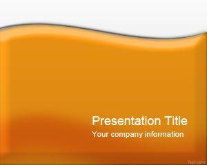 Plantilla PowerPoint Naranja con Lustre Gratis para Descargar