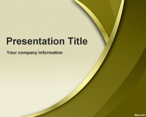 Gold Sublime PowerPoint Template