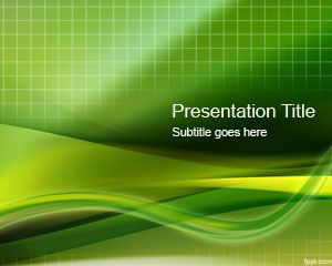 Green Grid PowerPoint Template PPT Template
