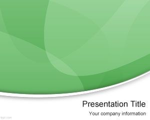Plantilla PowerPoint Abstracta color verde