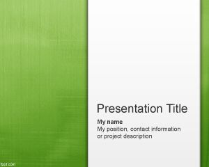 Light Green Abstract PowerPoint Template PPT Template