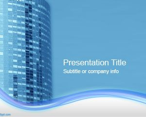 Office Building PowerPoint Template PPT Template
