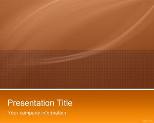 Orange High Tech PowerPoint Template