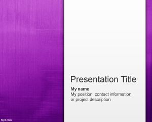 Plantilla PowerPoint Simple de color Violeta PPT Template