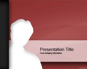 Red Intruder PowerPoint Template