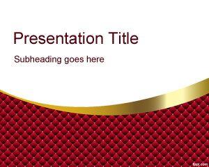 Plantilla PowerPoint con Curvas Rojas PPT Template