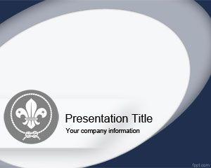 Plantilla PowerPoint de Boy Scout