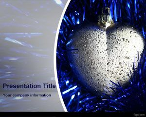 Silver Heart PowerPoint Template