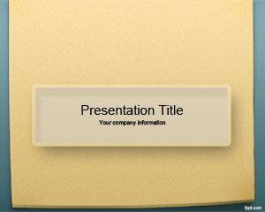 Plantilla PowerPoint de Notas para Recordatorio PPT Template