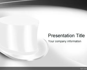 Top White Hat PowerPoint Template