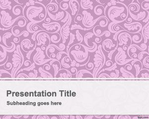 Plantilla PowerPoint Añeja color rosado PPT Template
