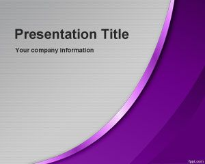 Violet Sublime PowerPoint Template