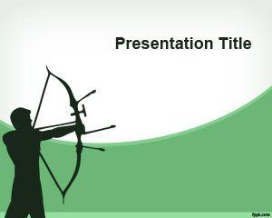 Plantilla PowerPoint con Tiro al Arco
