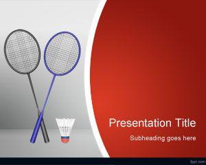 Plantilla PowerPoint de Badminton PPT Template