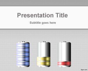 Plantilla PowerPoint de Batería