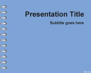 Blue School Homework Powerpoint Template