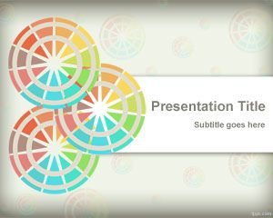 Free abstract slide design with color schemes in the background of PowerPoint presentation